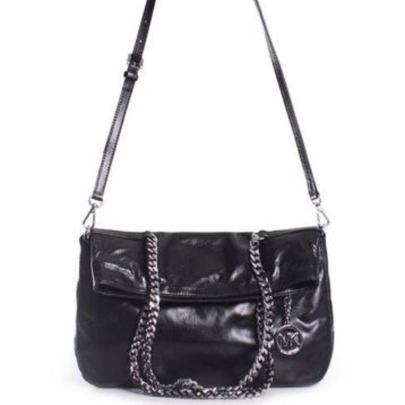 Michael Kors Handbags - Michael Kors Lacey Large Fold Over Leather Tote
